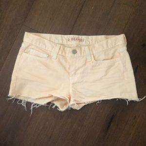 J Brand Peach Cut Off Denim Shorts